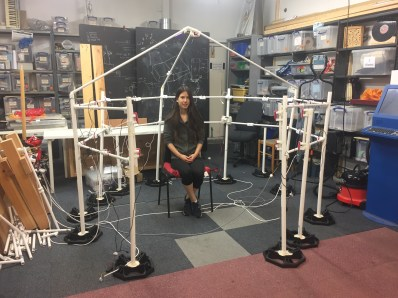 Trialling PVC Tubes structure
