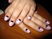 vintage -moon manicure poppynails
