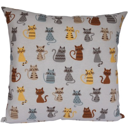 Coloured Cats design Scatter Cushion, home decor gift