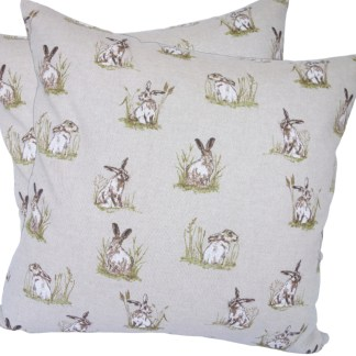 Hares in Grass Scatter Cushion