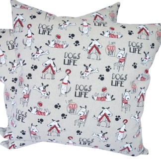 Dogs Life design Scatter Cushion