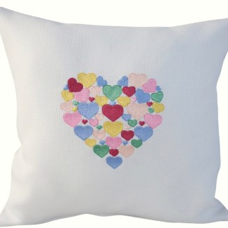 Heart of Hearts Embroidered Cushion