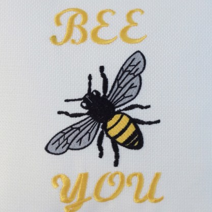Bee You Embroidered Cushion - unique home gift