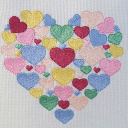 Heart of Hearts Embroidered Cushion - unique home gift