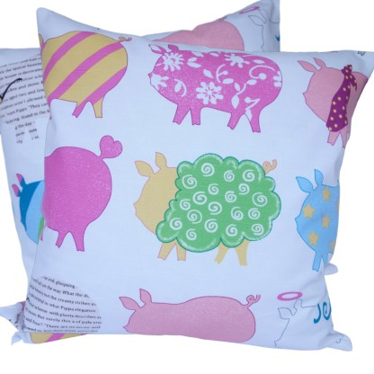 Bright Pigs Scatter Cushion