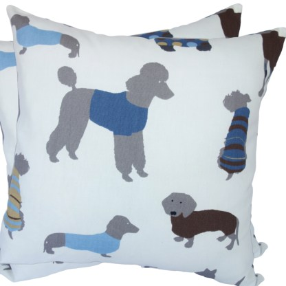 Blue Dogs design Scatter Cushion