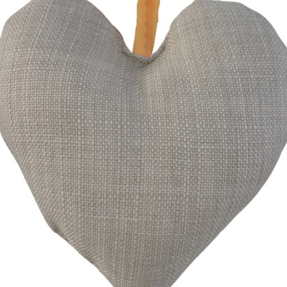 Padded Hanging Heart - Love, embroidered gift