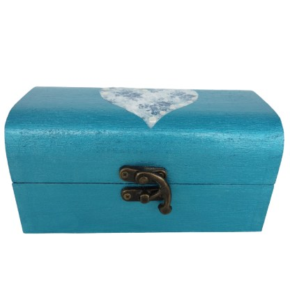 Claire 15cm Wooden Trinket Box, painted and decoupaged gift