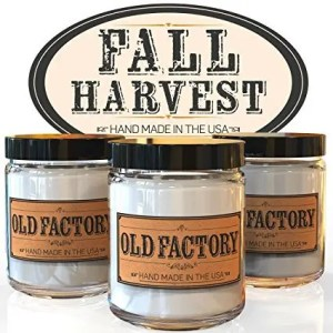 Old Factory Fall Scented Soy Candle Set