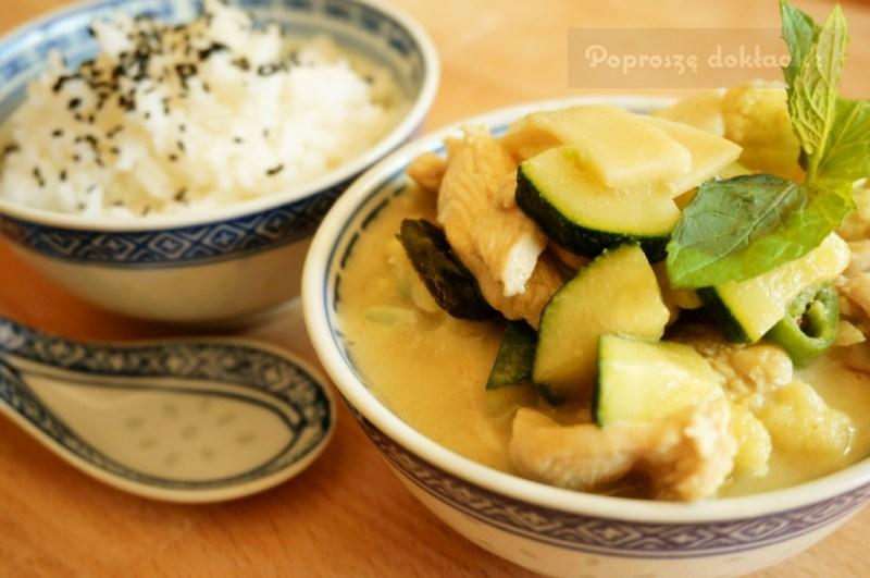 Thai Green Curry Oryginalne Tajskie Zielone Curry Poprosze Dokladke