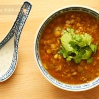 Zupa dahl z zielonej soczewicy