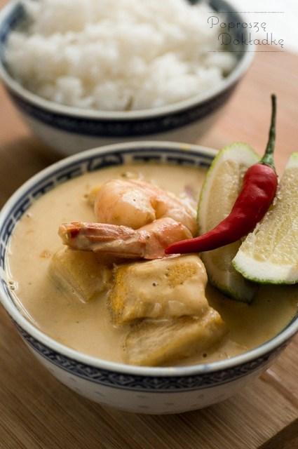 żółte curry z dynią