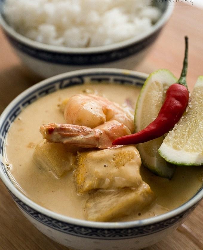 tajskie żółte curry z dynią