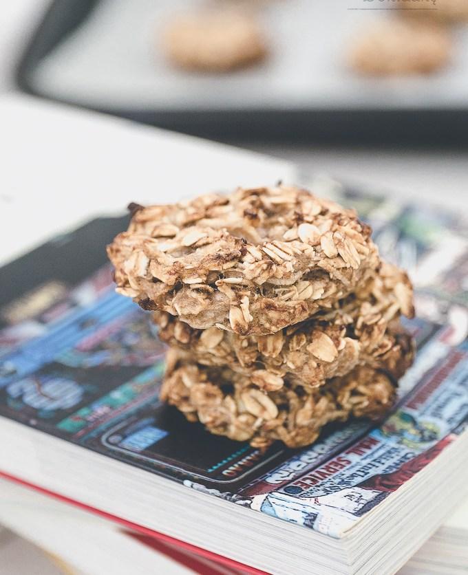 Zdrowe ciastka owsiane bez tłuszczu i cukru przepis