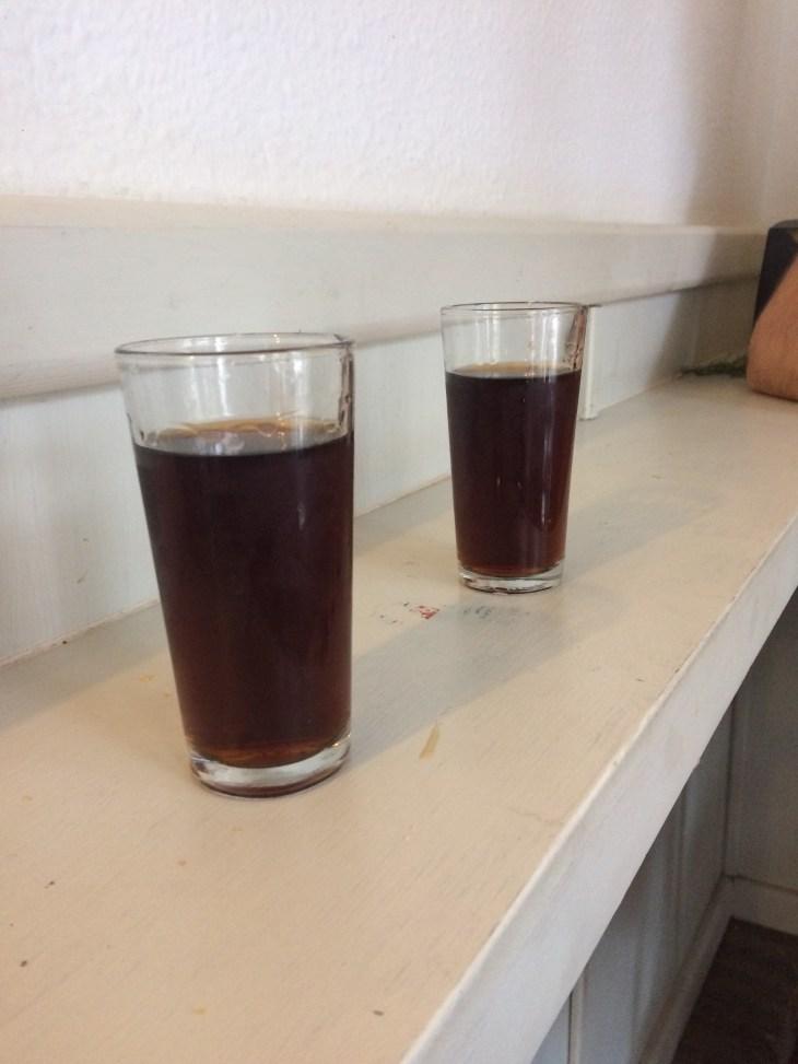 kultowe fifty-fifty podawane w szklankach :-)