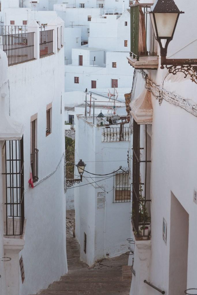 Widok na pueblo blanco w Vejer de la Frontera