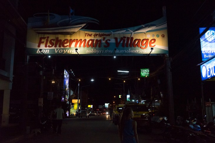 charakterystyczny napis Fisherman's Village