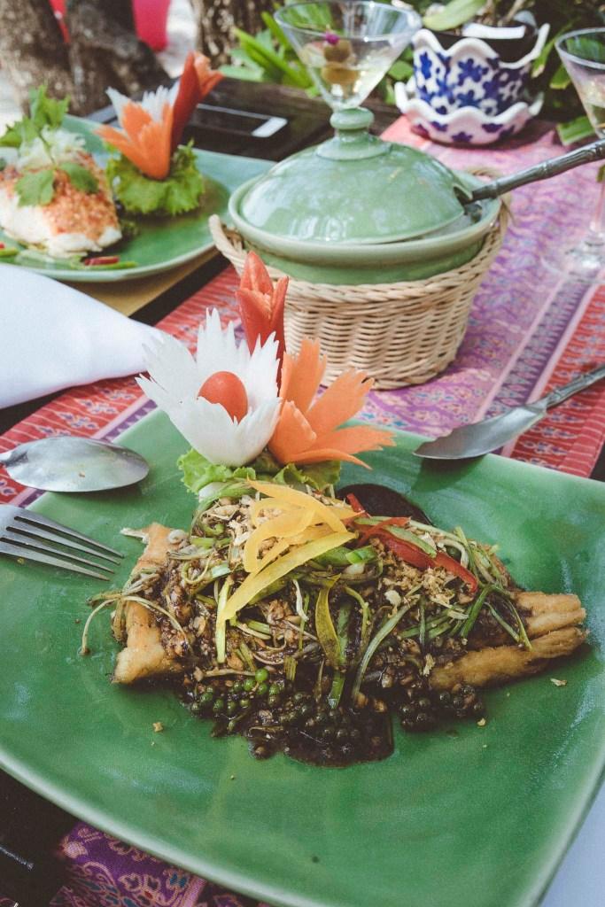 widzicie tę soczystą zieleń? to jedna z najlepszych uczt w Tajlandii!