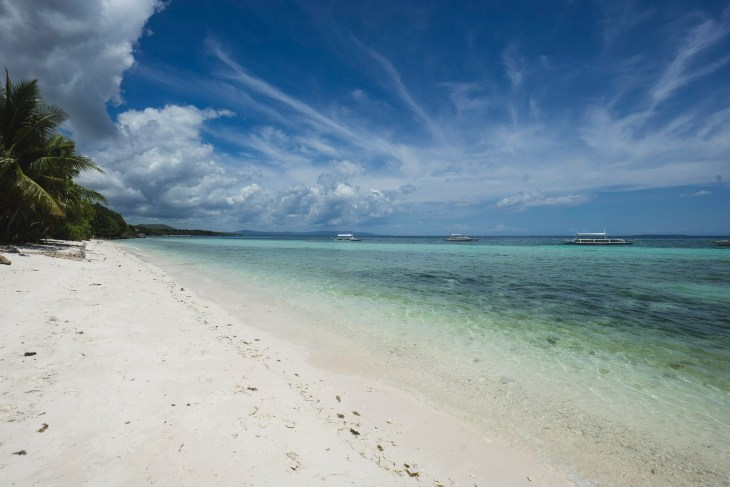jedna z pięknych plaży na Panglao