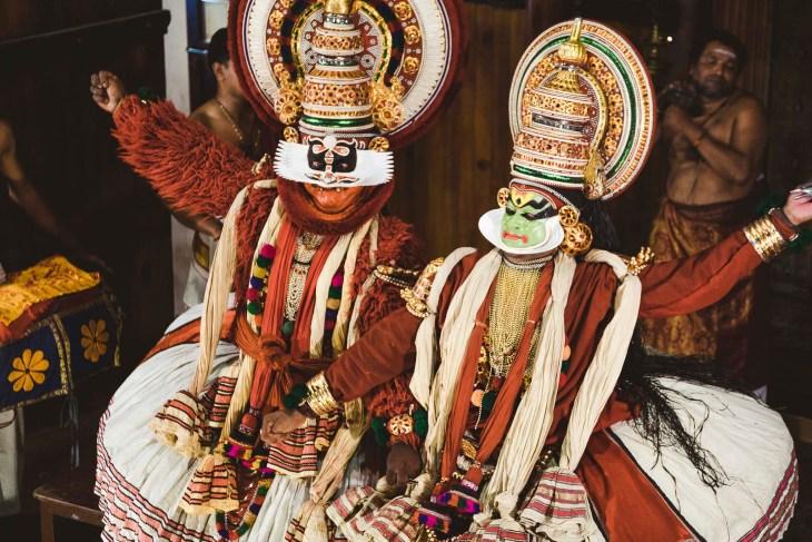 główni aktorzy przedstawienia Kathakali