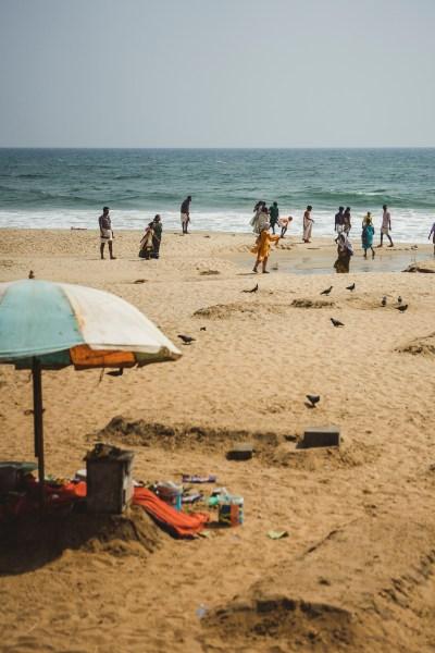 """kawałek """"świętej"""" plaży, Varkala, Kerala, Indie"""