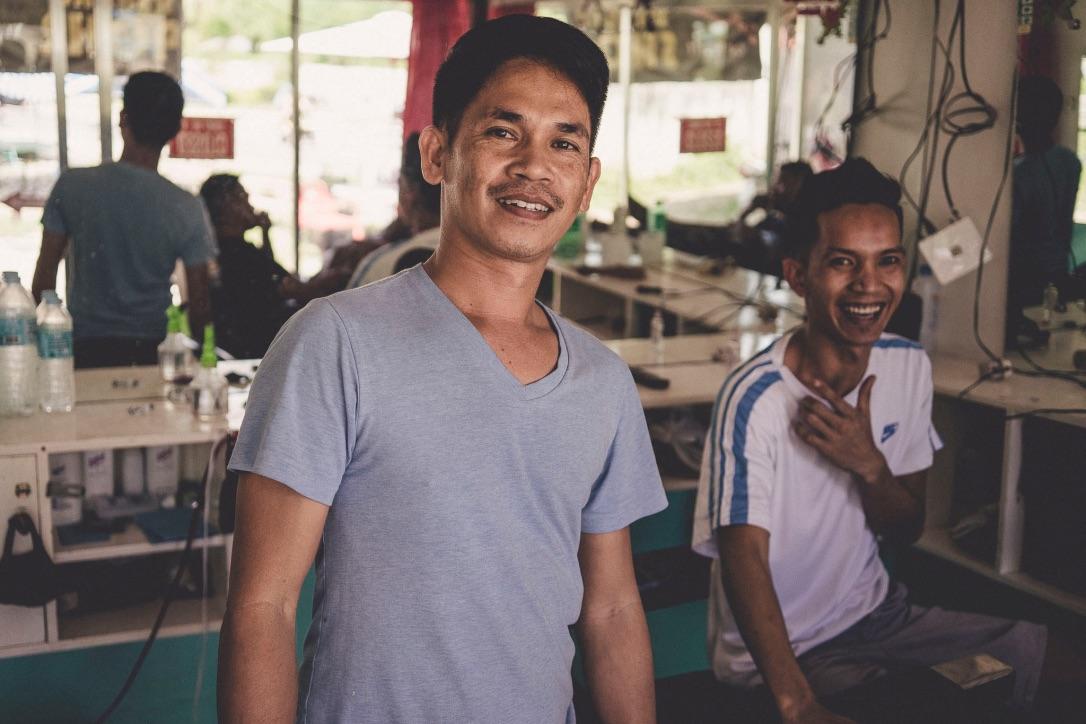 Filipińscy fryzjerzy :-)
