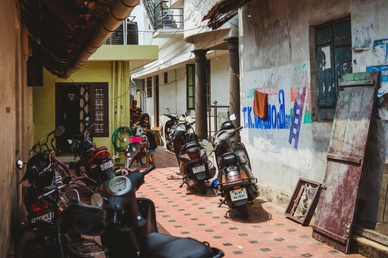 Zaułki Koczin, Kerala, Indie