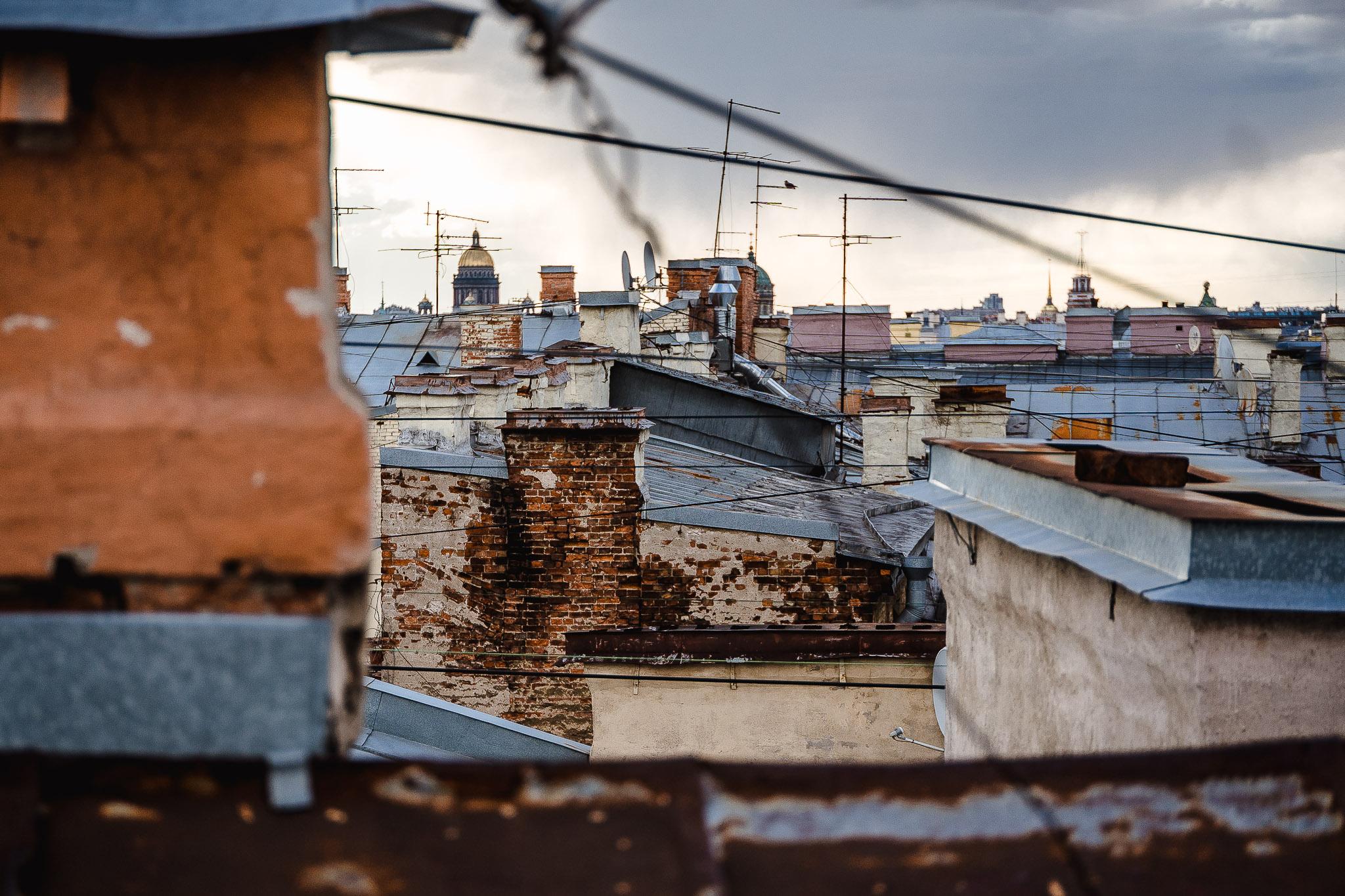 Spacer po dachach, okolice ulicy Rubinstein