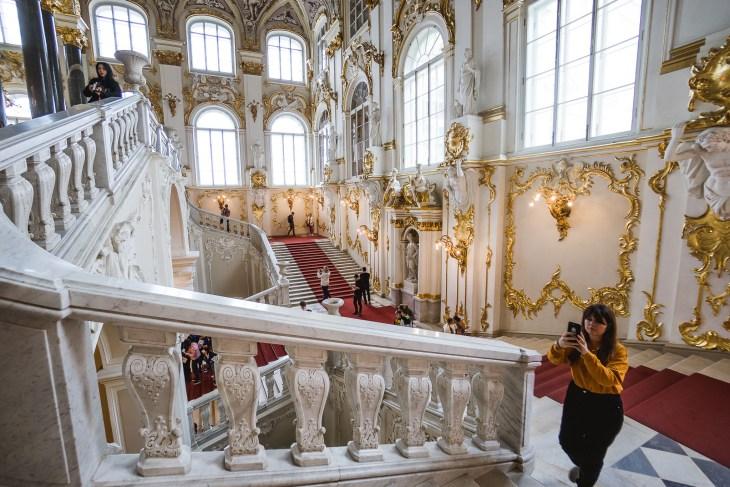 wnętrza Ermitażu
