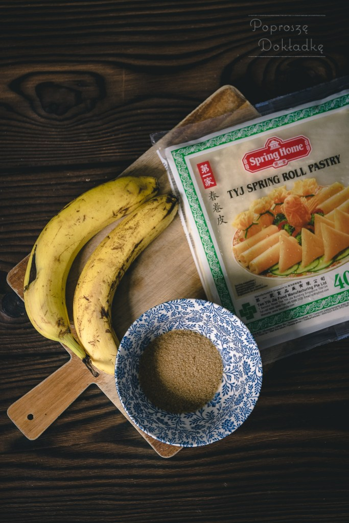 banana turon - składniki