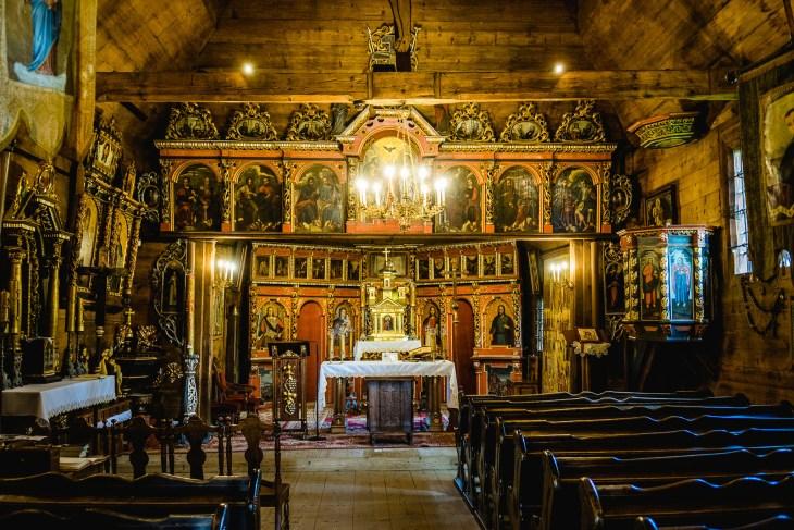piękne wnętrze cerkwi