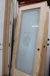 Pantry Door & ReliaBilt Primed 1 Panel Solid Core Etched ...