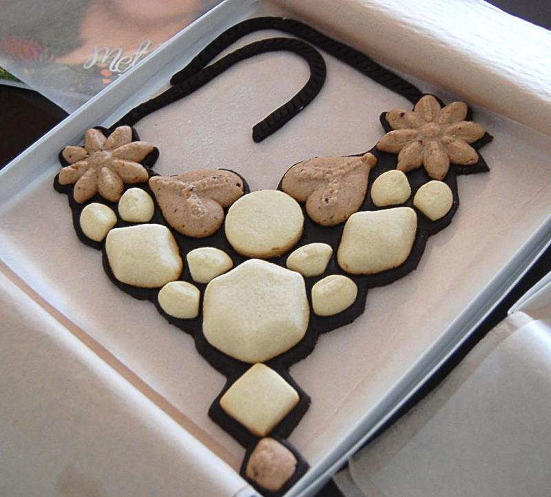 Boxed Cookie Necklace | Handmade Cookie Jewelry Edible Food Jewelry called The Gemmes Collection