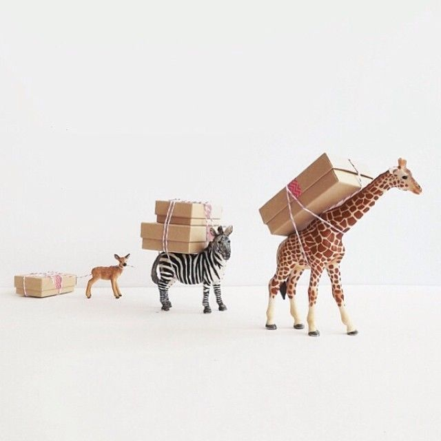 diy packaging with gilded animals
