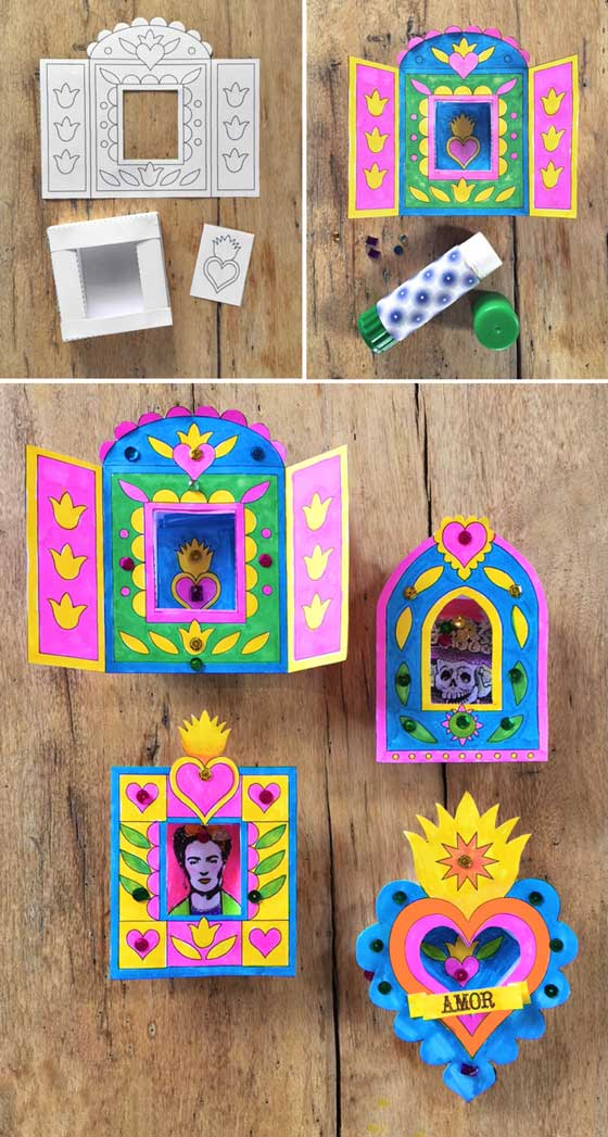 Make Nichose Paper Craft for Day of the Dead | Pop Shop America Kids Workshops | Halloween Events