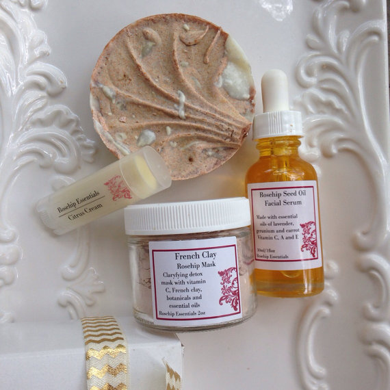 rosehip essentials rosehip facial kit handmade beauty products