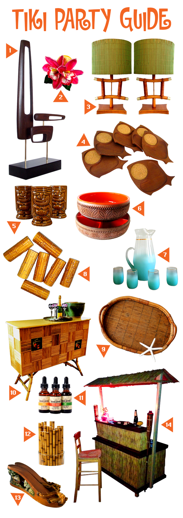 tiki bar and party guide bigger for pop shop blog vintage home goods available on etsy