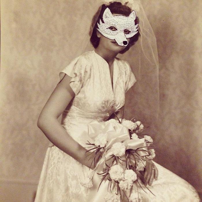 Handmade Paintings on Vintage Photographs by Kelly Kielsmeier Houston Local Artists