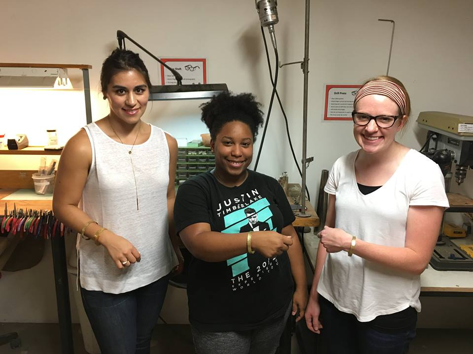 houston makerspace jewelry class