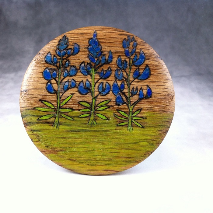 1 Plus 2 Equals LOVE woodwork pyrography