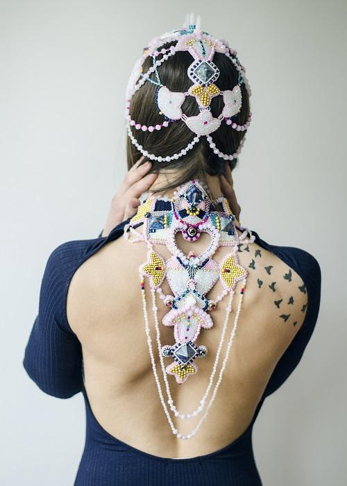 Rasa Vilcinskaite Jewel Crown and Necklace