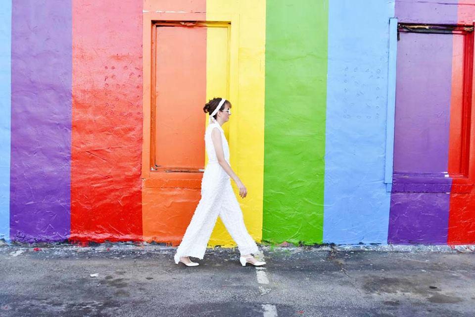 Houston blogger Pride Wall vintage clothing Sofia Emm