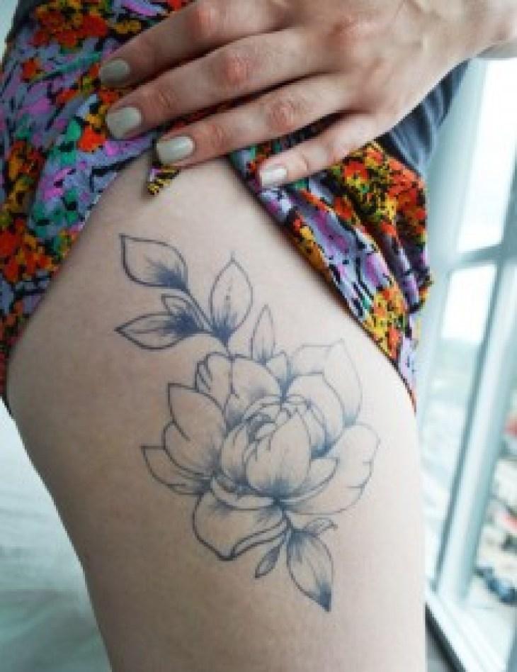 Temporary Tattoos - Handdrawn Peony Tattoo Handmade Crafts at Pop Shop America