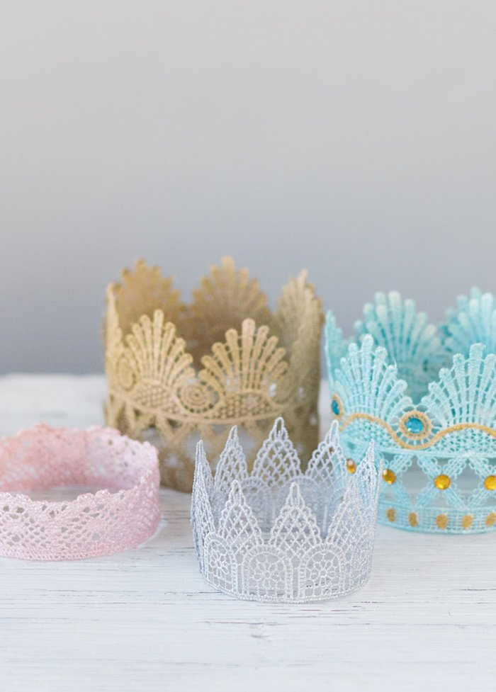 lace crowns diy by beau coup blog