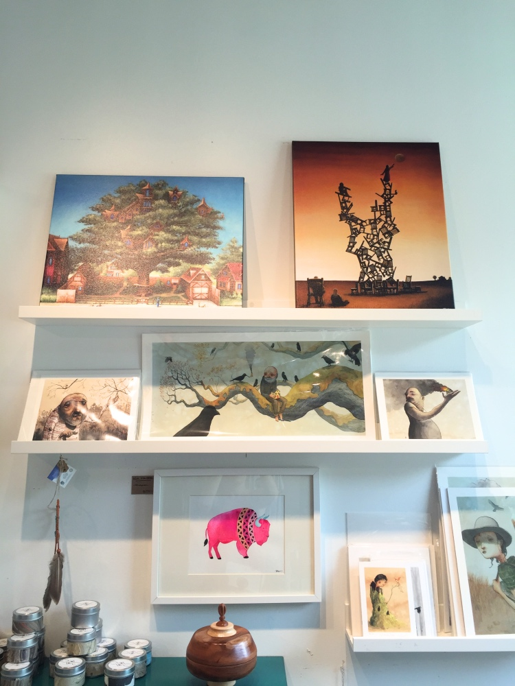 paintings and prints at space montrose art shop