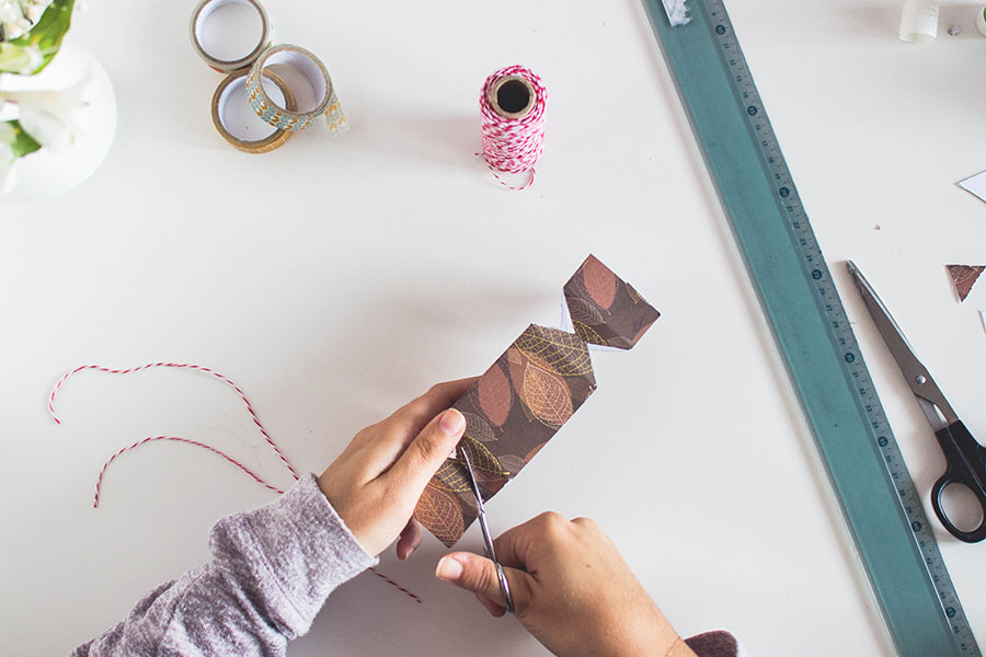 Remove the extra bit of paper on the sides for Cracker Box DIY Gift Packages