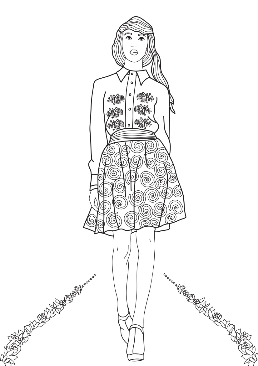 Fashion Show Coloring Pages for