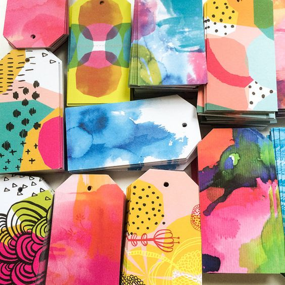 rainbow-watercolor-gift-tags-diy-price-tag-ideas