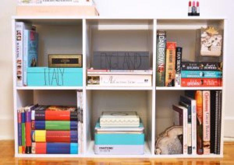 Stylish Bookshelf Home Decor DIY Dust Jacket Pop Shop America