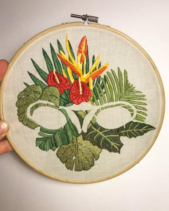 Jess_de_Wahls_Embroidery Art Ovary Bush